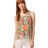 Sheer Printed Hi-Lo Tank