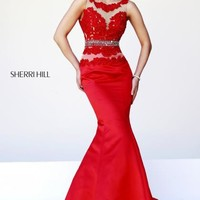 2014 Sherri Hill Red Homecoming Dress 32033