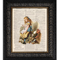 ALICE IN WONDERLAND & JURY BOX Dictionary Art Print