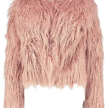 Petite Edge To Edge Mongolian Faux Fur Coat | Boohoo