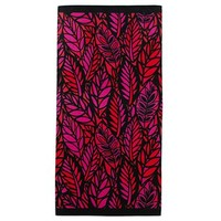 jcp home™ Tropical Leaves Red Beach Towel