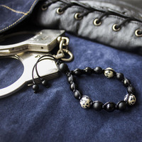 Beaded lasso ring, Penis Ring, Male Glans Ring, Cock Ring, Custom Cock Ring, BDSM Cock Ring, Mature, Intimate male jewelry, Penis lasso ring