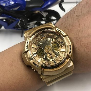 DCCK2 C028 Casio G-Shock GA-200 Waterproof Fashion Electronic Watches Gold