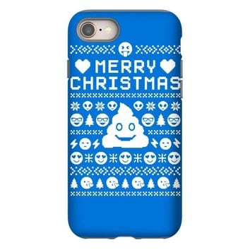 funny ugly christmas smiley emoticon iPhone 8