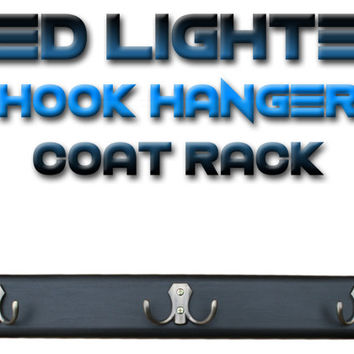 LED lighted Hook Hanger Coat Rack & double steel hooks. Lighting towel hook. Illuminated Wall hooks. coat rack with LED lights. Unique gift