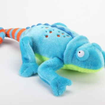 goDog Amphibianz Chameleon Plush Dog Toy