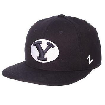Licensed Byu Cougars Official NCAA M15 Size 7 3/8 Fitted Hat Cap by Zephyr 086216 KO_19_1