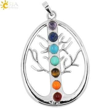 Yoga Symbols Tree of Life Pendant Amulet Necklace Pendants for Women