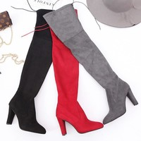 On Sale Hot Deal Stretch Winter Pointed Toe Zippers Boots [120849367065]