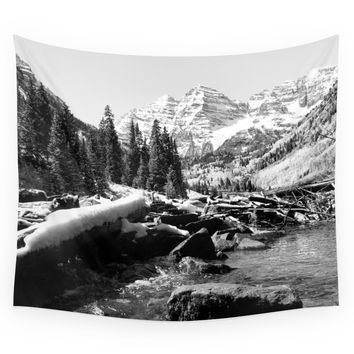 Society6 Maroon Bells Mountains Colorado Wall Tapestry