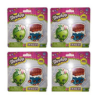 Shopkins erasers (4-pack)