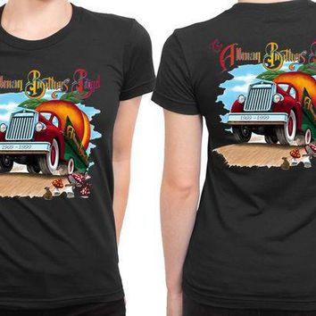 Allman Brothers Band Orange Truck Poster 2 Sided Womens T Shirt