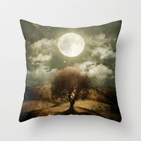 Once upon a time... The lone tree. Throw Pillow by Viviana Gonzalez
