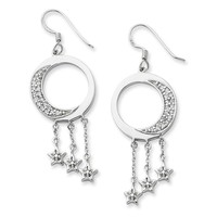 Sterling Silver I Promise You the Moon and Stars Sentimental Expressions Earrings