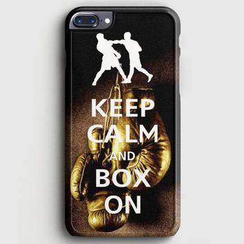 Keep Calm Wwe Boxing Gloves iPhone 7 Plus Case