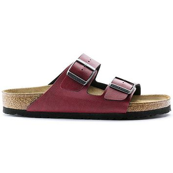 Birkenstock Arizona Birko Flor Pull Up Bordeaux 1000172/1000176 Sandals - Ready Stock