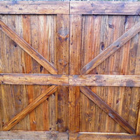 Pine Barn Door Headboard-Distressed