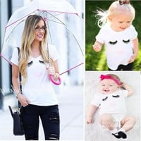 Matching Mommy+Me Lashes Vneck Tshirt