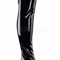 Gogo 3000 Smooth Black Patent Thigh High Boot