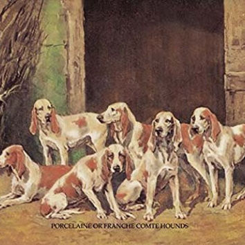"""Buyenlarge 0-587-04745-3-P1218 """"Porcelaine or Franche Comet Hounds"""" Paper Poster, 12"""" x 18"""""""