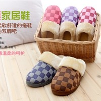 Aliexpress.com : Buy Hot sale grometric winter home slippers warm plush Hand sewing slippers cotton anti slip indoor slippers drop shipping from Reliable slipper pink suppliers on SUNNY TRADE CO.,LTD