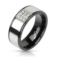 Personalize Stainless Steel Ring, Custom Mens Stainless Steel Ring, Stainless Steel Band, MMR-M2078