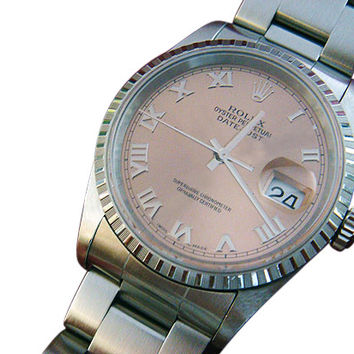 Rolex datejust ladies watch rose dial date just