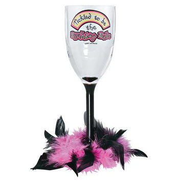 Tickled to be Birthday Babe Wine Glass