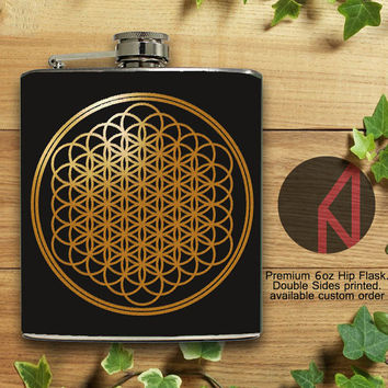 Sempiternal Album Cover 6oz and 8oz Hip Flask