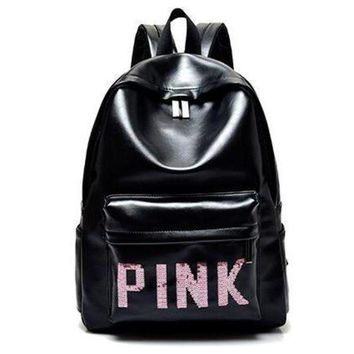 DCCKJL0 PINK Victoria's Secret Fashion Sport School Bag Satchel Travel Bag Backpack