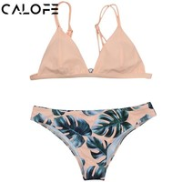 Women floral printed Bikini Set Bandage Swimwear Swimsuit Brazilian Bathing female Beachwear