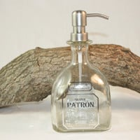 Soap/Lotion Dispenser Upcycled from Patron Liquor Bottle