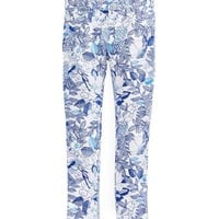 Girls Cordia Floral Printed Jeans