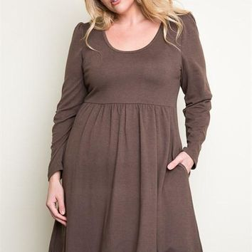 Mocha Delight Plus Dress – Gypsy Outfitters - Boho Luxe Boutique