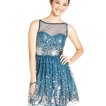 Ruby Rox Juniors Dress, Sleeveless Sequin A-Line - Homecoming Dress Shop - Macy's