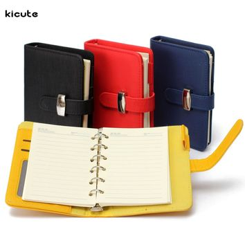 Newest Modern Design A7 Personal Organiser Planner PU Leather Cover Diary Notebook School Office Stationery