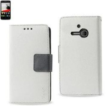 REIKO ALCATEL ONE TOUCH EVOLVE 3-IN-1 WALLET CASE IN WHITE