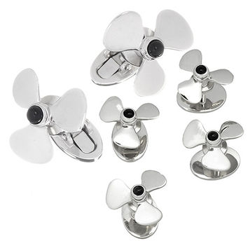 Moving Propeller with Onyx Accent Tuxedo Formal Set  - Cufflinks and Studs Set