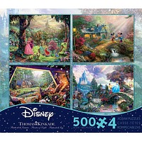 disney kinkade aurora seven dwarfs 4 in 1 multipack 500 pcs puzzle new with box