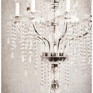 hollywood glamour, 16x 24 black and white fine art photograph, crystal chandelier, dramatic, bling, glam, affordable home decor