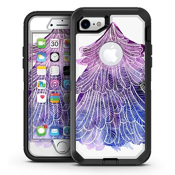 Stenciled Watercolor Evergreen Tree - iPhone 7 or 7 Plus OtterBox Defender Case Skin Decal Kit