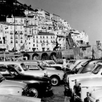 Vintage Amalfi Coast Italy 8x10 Black and White Photography