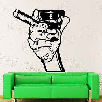 Wall Stickers Vinyl Decal Men Whiskey Rum Cigar Relaxation Relax Decor  (z1211) Part 36