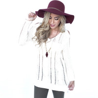 Counting Stars Knit Sweater In Ivory
