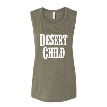 Desert Child Olive Green Tank Top