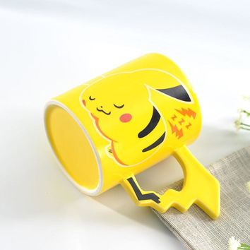 370 ML  Pikachu Bone Ceramic Coffee Mug Tea Cafe Handle Cartoon Cup Best Gift  Kawaii Pokemon go  AT_89_9