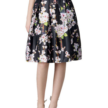 Best Floral High Waisted Skater Skirt Products on Wanelo