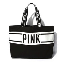 PINK Women Canvas Handbags bag High-capacity Print Totte Shoulder bag