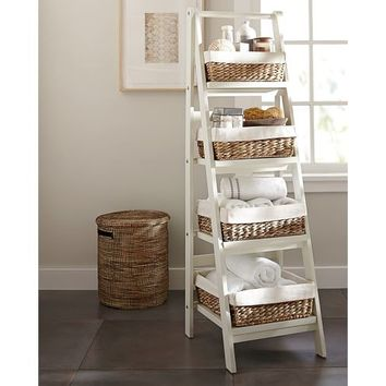 Ainsley Ladder Floor Storage with Baskets