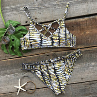 Cupshe Make Your Point Printing Bikini Set
